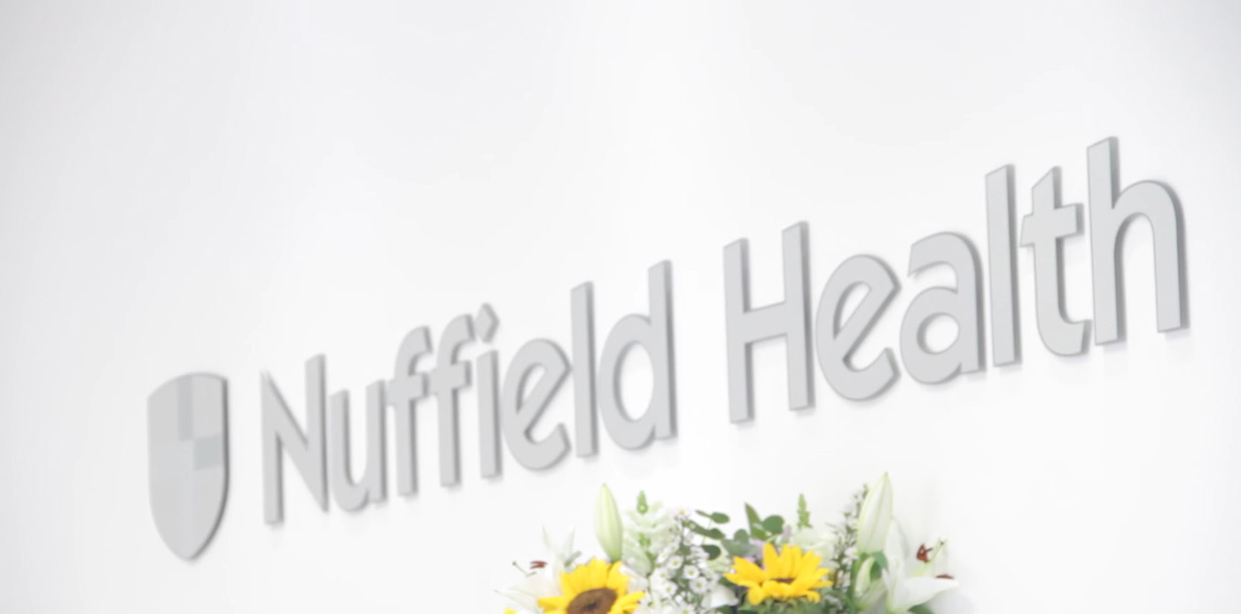 Nuffield Health promotional client journey video slide six