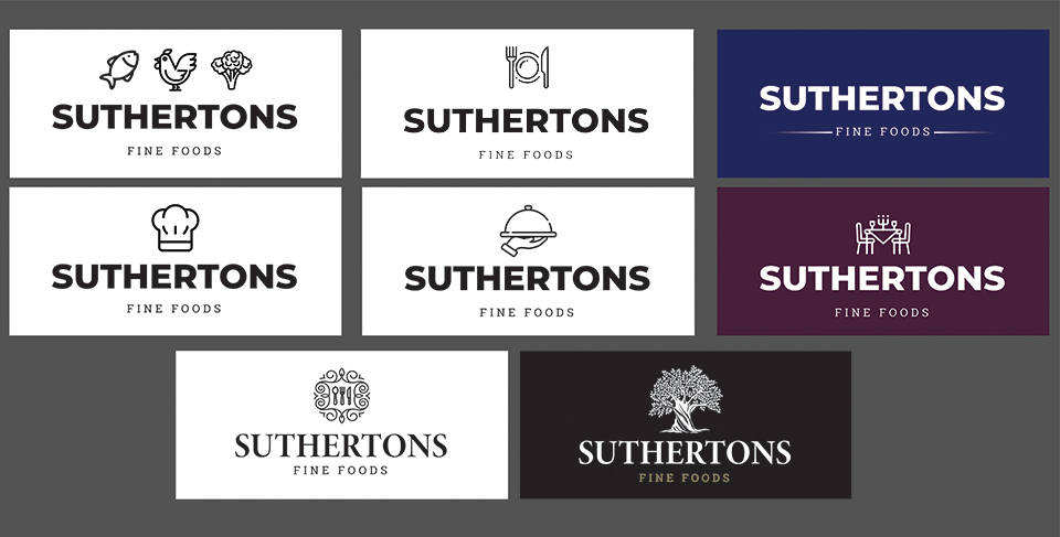 Suthersons fine foods logos projects