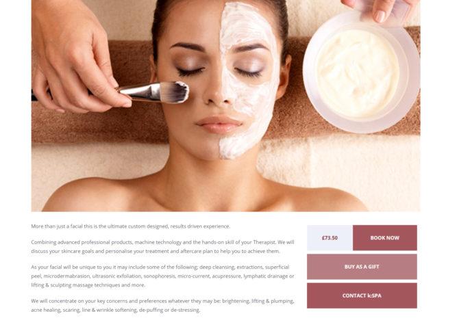 kspa website redesign treatment page